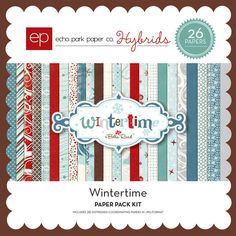 Snap Click Supply Co. - Wintertime Paper Pack, $3.99 (http://www.snapclicksupply.com/wintertime-paper-pack/)