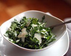 Arugula and Parmesan Salad with Lemon Vinaigrette Love arugula!!