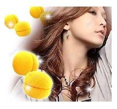 6 pcs/lot Yellow Balls Soft Sponge Hair Care Curler Rollers