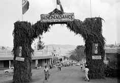 One of the specially decorated arches set up in Kigali, Rwanda to mark that nation's independence in 1962 Thing 1, World History, Outdoor, July 1, Arches, Outdoors, Outdoor Games, History Of The World, The Great Outdoors