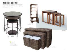 Trend: Nesting Instinct #hpmkt  I love furniture that is multi tasking.