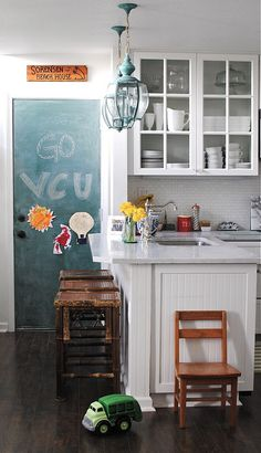 tinted chalkboard door. i'm worried my chalkboard love is bordering on obsessive!