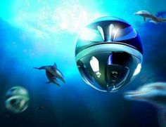 Oceanic Sphere linving space at the ocean, 99% of the space available to humanity, http://concretesubmarine.com, Wilfried Ellmer