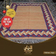 Bring freshness to any room by adding a kilim in pastel colors! Don't miss our Christmas offer and enjoy 50% off on all our products! كيليم بسيط بالوان الباستيل لديها القدرة على تجديد روح منزلك! لا تفوت عروض الخان بمناسبة رأس السنة الجديدة و استمتع بخصم 50% على جميع منتاجتنا. #alkhanrugs #rug #rugs #carpets #kilim #handmade #egyptian #egyptianrug #home #homedecor #luxuryhomes - posted by AlkhanRugs https://www.instagram.com/alkhan_rugs - See more Luxury Real Estate photos from Local Realtors…