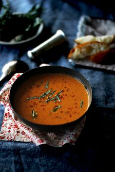 Tomato Soup with Fresh Tarragon | The Flourishing Foodie