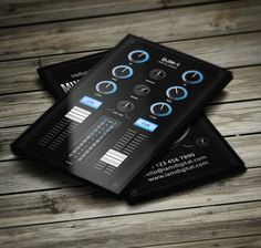 Digital DJ Business Card Businesscards Music Psdtemplates Djbusinesscards
