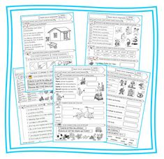 Cycle 2 compréhension lecture French Worksheets, Core French, Comprehension, Teaching Kids, Cycle 2, Homeschool, Classroom, Journal, Writing