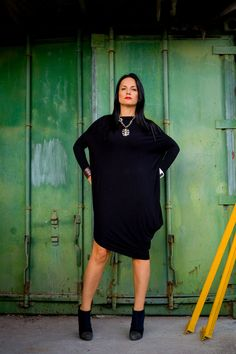 An inspiring Kaftan Asymmetrical Black Women Maxi Dress that you can wear and customize to fit your body any way you see fit. You can wear it in spring, summer and fall. It is made of high quality natural fabrics / material, soft and breathy, so loose the Dress to make you comfortable all the time.    I can guarantee that this one of a kind model will make you stand out and enjoy your picnic or night out!       ~~~~I create and made this Unique Asymmetrical Loose Women Dress with all my…