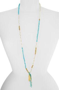 Women's Chan Luu Long Beaded Necklace - Turquoise