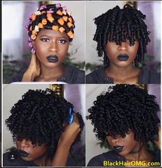 If you have very thick type 4 hair, you probably know how difficult it can be to get those SUPER-DEFINED curls that you see so often featured on our Instagram. Learn how to do this hairstyle now... http://www.shorthaircutsforblackwomen.com/perfect-perm-rod-set-thick-type-4-hair/