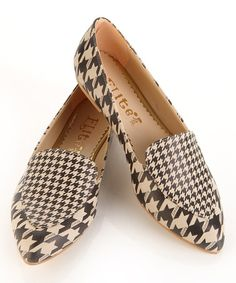 Look at this #zulilyfind! Black & White Houndstooth Loafer #zulilyfinds