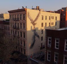 Murals Composed of Frenetic Linework by DALeast, photo by Spencer Elzey.  Believe this is in NYC.