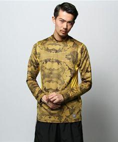NIKE MEN(ナイキ メン)のNPC ハイパーハイドロプル グリッド カモ フィッテド モック(Tシャツ・カットソー) オリーブ