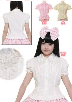 25e83794725 The Cute Lifestyle  Review  Bodyline l364 Blouse in White (Positive)  Harajuku Fashion