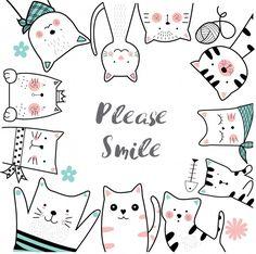 Cute cartoon sketch animal Premium Vector - - New Tutorial and Ideas Scrapbooking Image, Animal Doodles, Cartoon Sketches, Cute Doodles, Cat Crafts, Free Graphics, Cat Drawing, Cute Cartoon, Animal Drawings