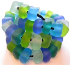 Etched Lampwork Beads - My Fave Colors