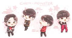 Chen's Monster outfits and my fave parts from the perfs
