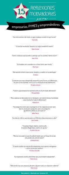 15 reflexiones inspiradoras para empresarios, emprendedores y PYMES By Idearium 3.0