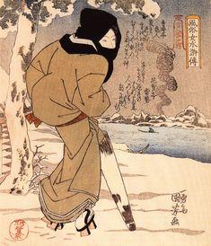 femme-japon-estampe-bois-Utagawa-Kuniyoshi-03 - La boite verte