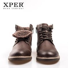 8cdd3a8b8071c0 Waterproof Motorcycle Boots Men Lace-Up Comfort Footwear Leather Casual
