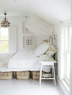 Baskets and bedside