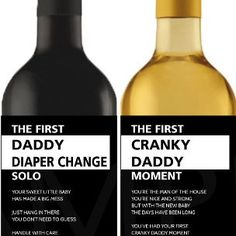 New daddy milestone wine labels now available! These are a very unique and original gift for a new dad! New Daddy Gifts, Gifts For New Dads, Wine Tags, Wine Labels, Funny Baby Gifts, Funny Babies, Craft Things, Wine Gifts, Baby Shower Printables