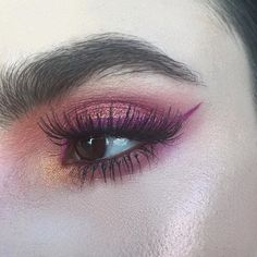 Close up of the other day's eye look. Details below: BROWS: Mac Prolongwear Waterproof Brow Set in Ebony Brown LASHES: Mac 48's & Instacurl lash mascara LINER: Mac Slipper Orchard liquid lipstick EYESHADOW: Mac Soft Ochre Paintpot to prime, Mac Mu Mu Bloom, Rose Pigment, and Coastalscents Palette One HIGHLIGHT: Crushed Pearl & Starburst from the ABH Gleam Glow Kit.