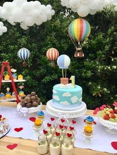 Hot Air Balloons Birthday Party