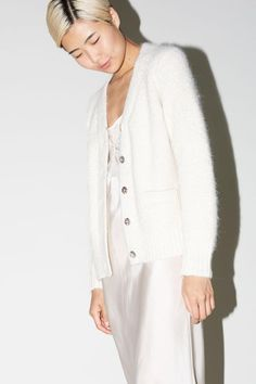 No.6 Marcy Cardigan in Off White