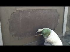 Rendering Beautiful Fence Wall Using Sand And Cement - How to Make a Professional Wall Compound Wall, Cement Art, Fence, Youtube, How To Make, Beautiful, Houses