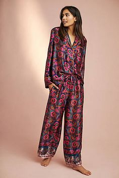 Silk Sleep Pants. Silk PajamasSleep PantsPjsLounge Wear AnthropologieNightwearClosetClothes For WomenFloral e0205f647bfb