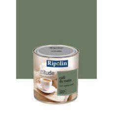 Peinture vert végétal RIPOLIN Attitude café du matin 0.5 l