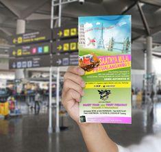 Flyer design for a travel agency