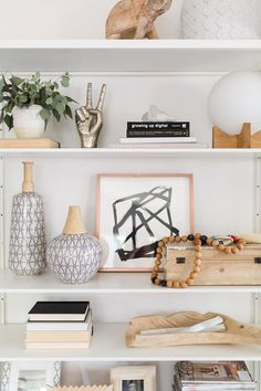How To Style A Shelf Have you ever found yourself staring at your open shelving with out any idea of how to make it look both collected and pulled together? We know the struggle! But if you narrow down the elements used to style a shelf then it becomes much easier than you may have …