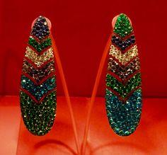104 - Pendant earrings by JAR Paris, 2007 - Garnets, apatites, sapphires…