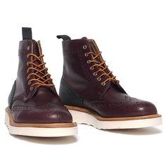 for HAVEN Country Brogue Boot Oxblood/Black