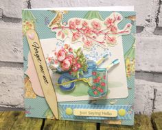 A lovely collection of Floral and Gardening Scrapbooking papers and embelishments at www.scrappingthemagic.co.uk