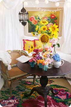 from my garden 12 by A Fanciful Twist, via Flickr.....love everything about this space.