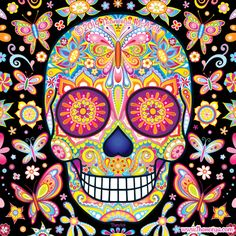 Thaneeya McArdle's art inspires me greatly, I love to use her Day of the Dead colouring book because I can just be free with the colours that I use. I learned about her in year 8 and ever since I've enjoyed her work, particularly the sugar skulls.