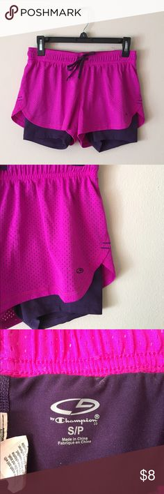 Champion magenta purple running athletic shorts Magenta athletic shorts from Champion. Great used condition, no signs of wear or stains. Champion Shorts