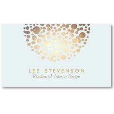 Interior Designer Lighting Business Card