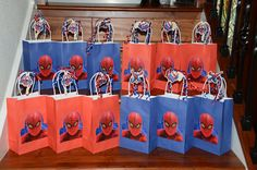 spiderman gift bags, they have these at the dollar store