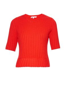 Carven Wool-blend ribbed-knit sweater