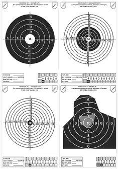 Представленные мишени для стрельбы из травматического пистолета подготовлены таким образом, что бы их можно было распечатать в формате А4.