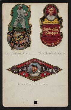 vintage bat decals (Louisville Slugger) #MLB #Baseball #Vintage