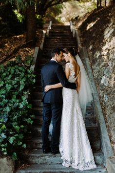 Bride and groom by Teneil Kable