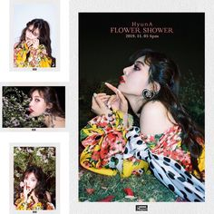"""i love the polaroid kind of concept 🌸 she looks so stunning 😭🥺 Pictures Of People, Pictures To Draw, Hyuna Triple H, Kim Hyuna, Unfollow Me, Flower Shower, I Call You, Kpop Girls, Storytelling"