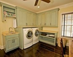 I love the efficiency of this utility room