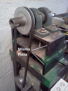 Mi torno casero con variador de frecuencia - Corte varios trozos y los utilice de base del torno y base de la contrapunta.
