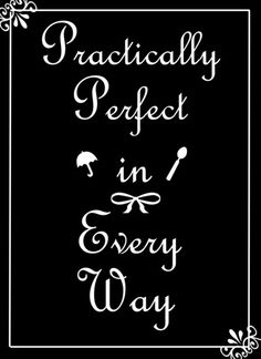 Mary Poppins Practically Perfect Art Print